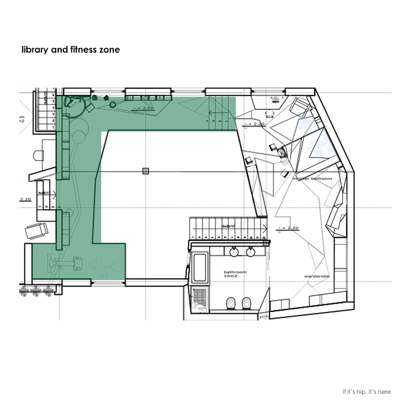 library and fitness area plans IIHIH