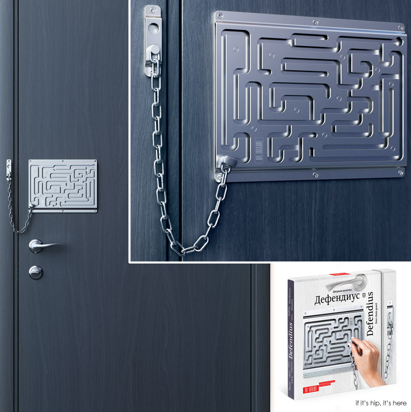 The Brilliant Maze Door Chain Lock Finally Comes To Life As A Real Product!    If Itu0027s Hip, Itu0027s Here