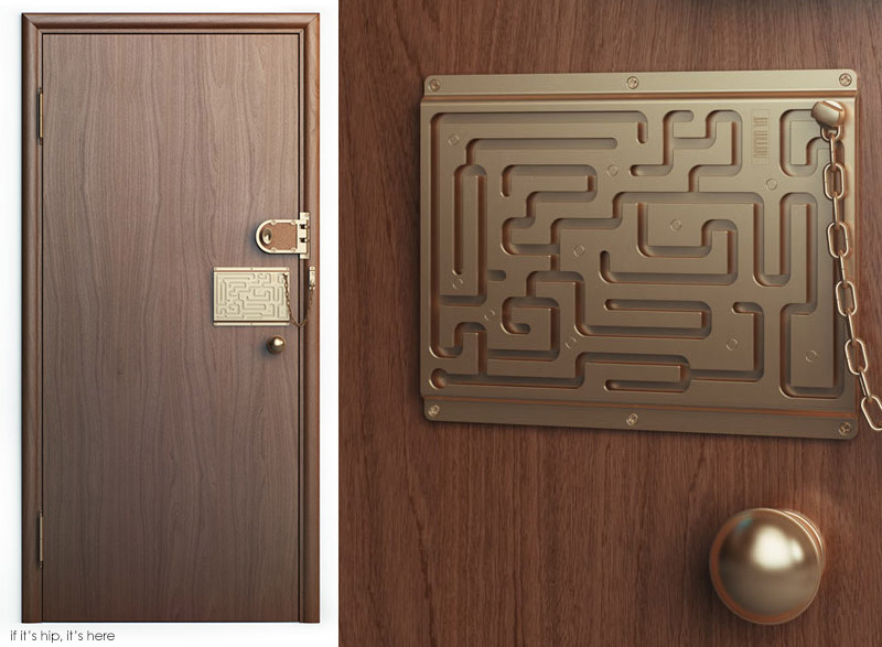 Amazing The Brilliant Maze Door Chain Lock Finally Comes To Life As A Real Product!    If Itu0027s Hip, Itu0027s Here Pictures Gallery