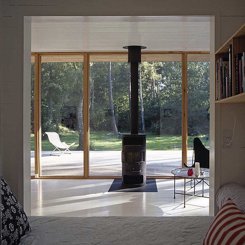 A sweet little summer cottage in denmark by christensen for Wood windows colorado