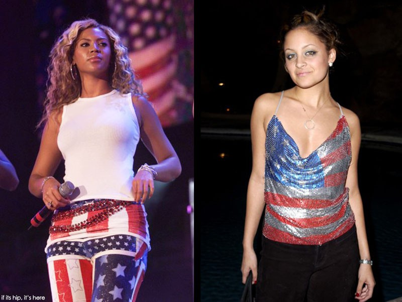 Beyonce in concert, Nicole Ritchie at a Britney Spears Concert, 2001