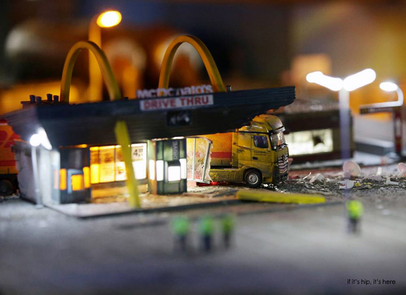 Detail from an artwork by Jimmy Cauty titled The Aftermath Displacement Principle