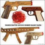 Handcrafted Wooden Rubber Band Guns by Elastic Precision