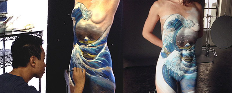 behind the scenes body painting