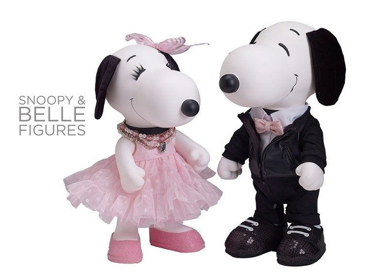 new official snoopy & belle dolls