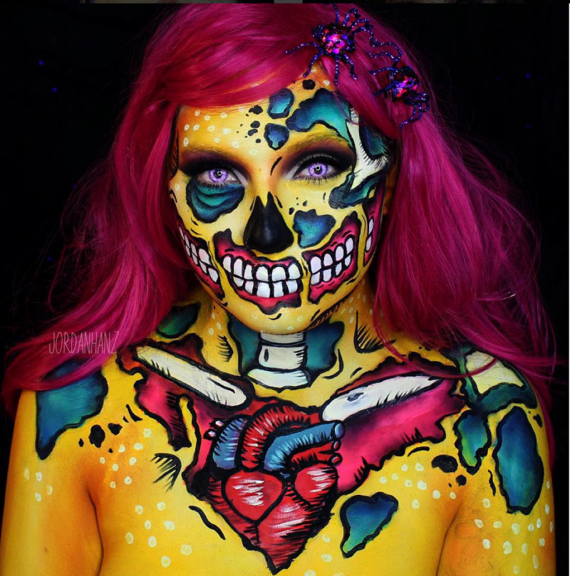 Professional Screeding Pop And Painting Designs Works: The 10 Most Inspirational Instagram Halloween Makeup Artists