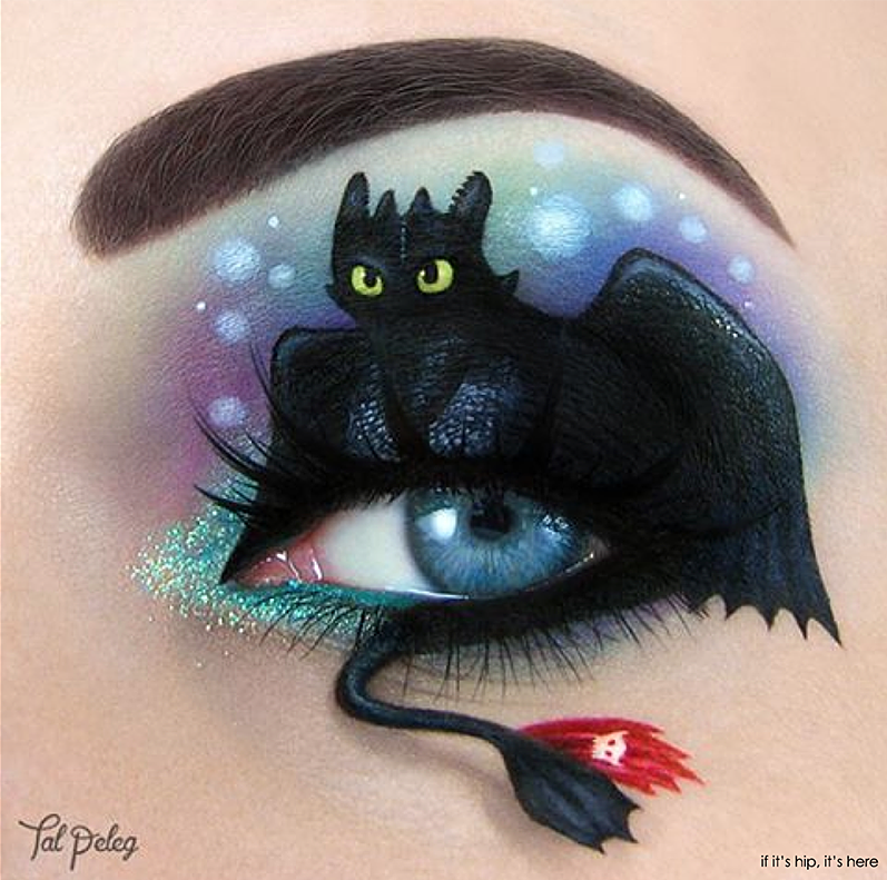 Toothless how to train your dragon eye makeup