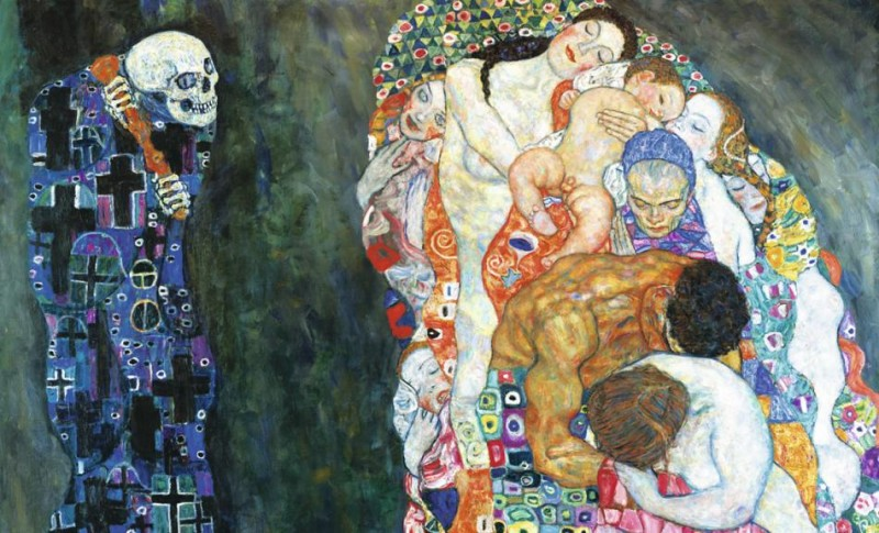 death and life by gustave klimt