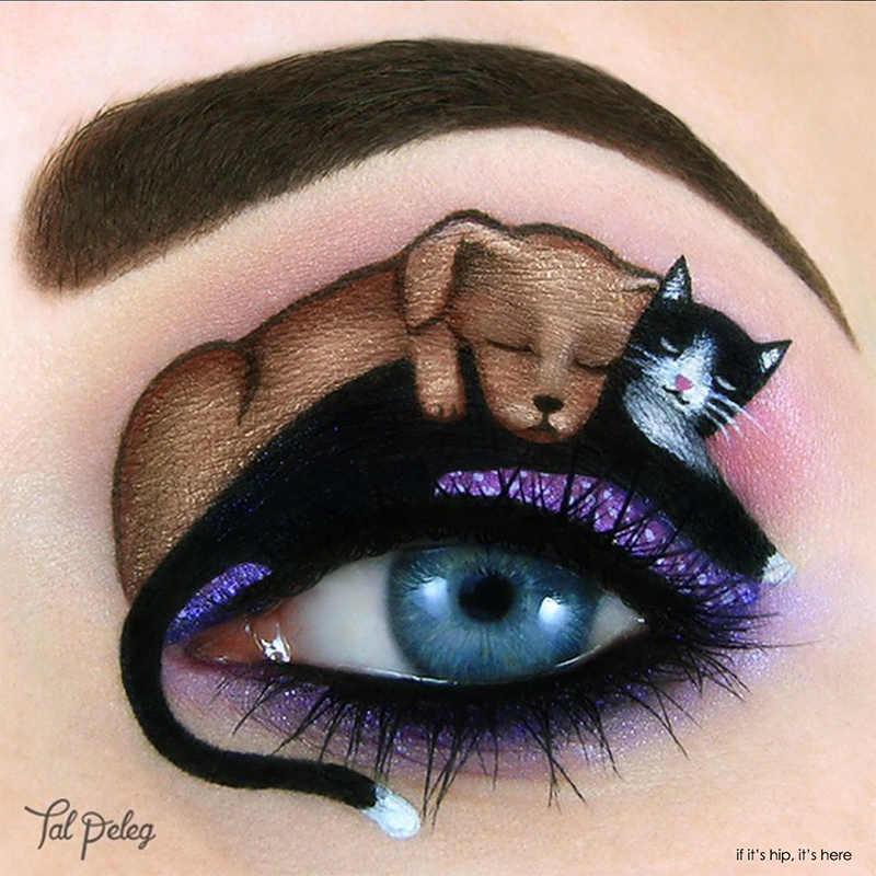 puppy and kitty eye makeup