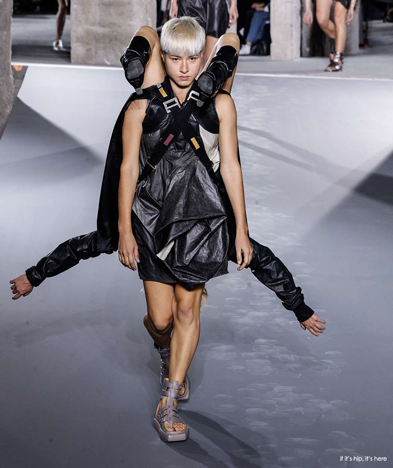 Rick Owens Runway Models Pull Their Weight And That Of