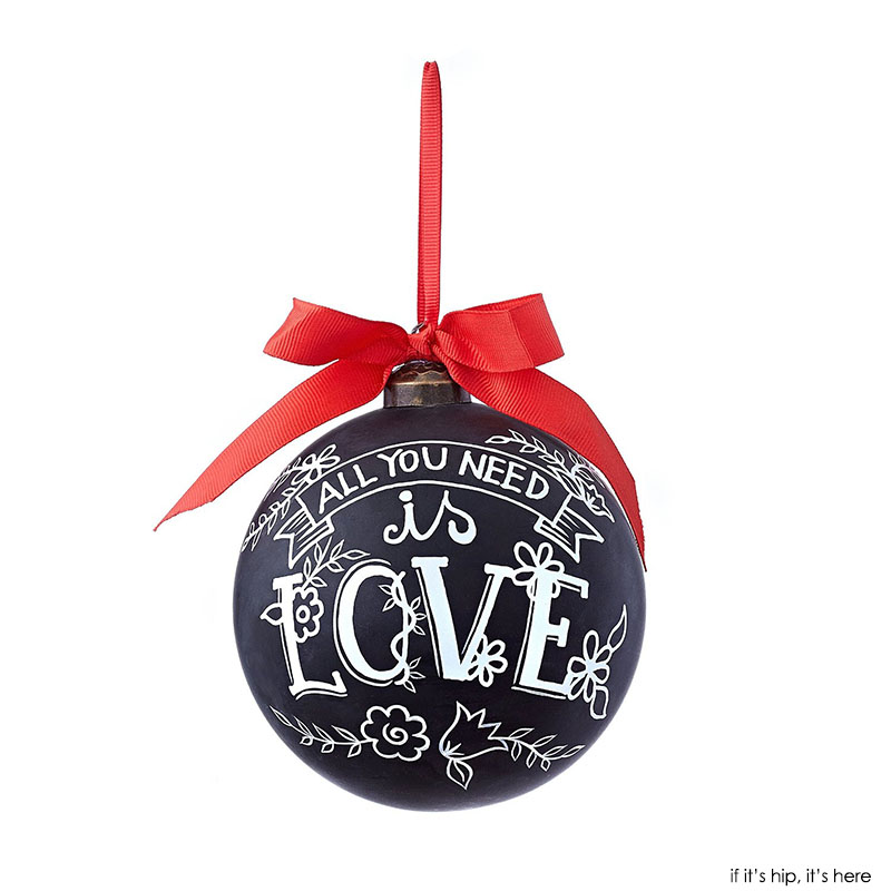 All you need is love chalkboard ornament