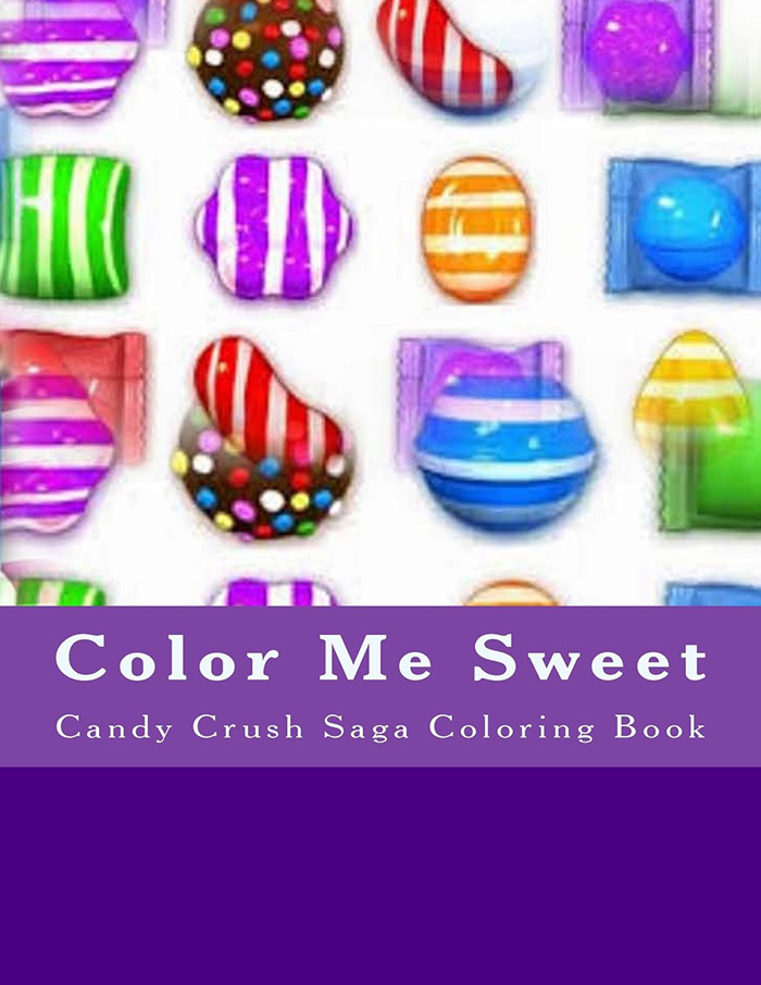 Color me sweet candy crush coloring book
