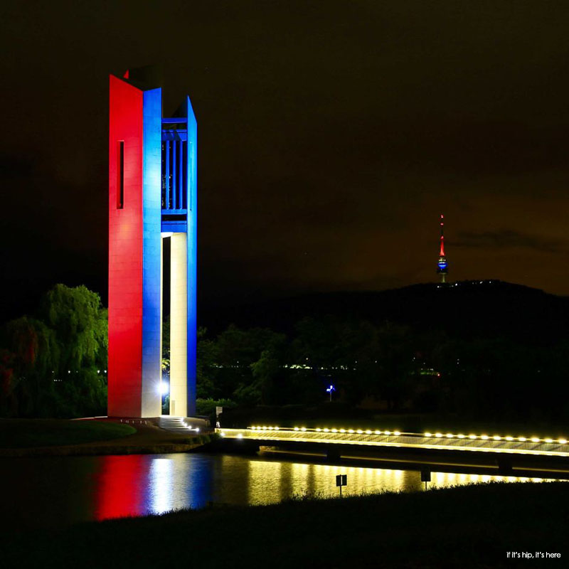 National Carillon and Telstra Tower in Canberra, Australia