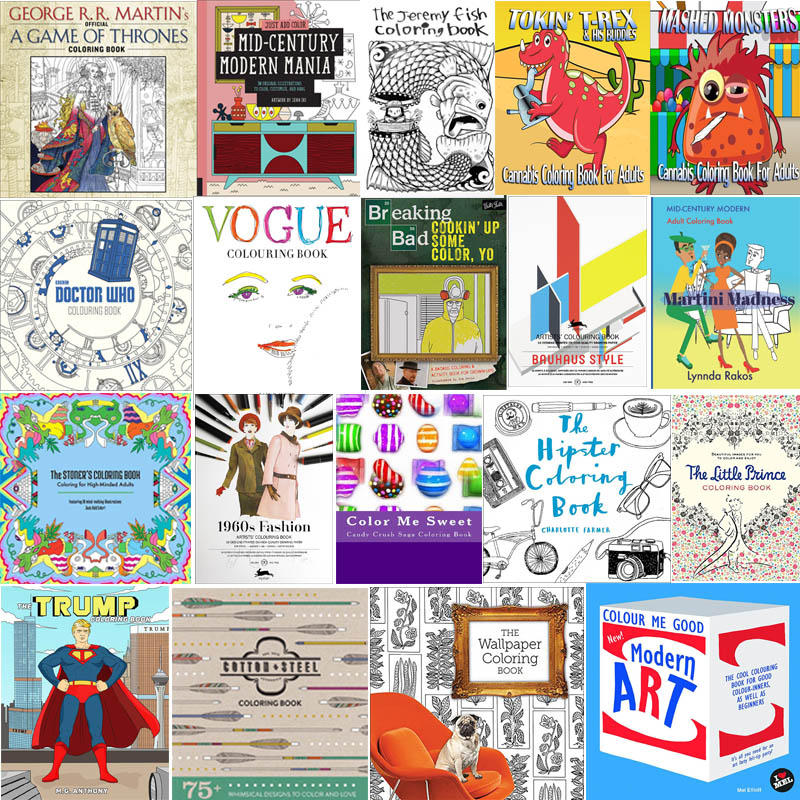 The Coolest Coloring Books For Grown-Ups Part V