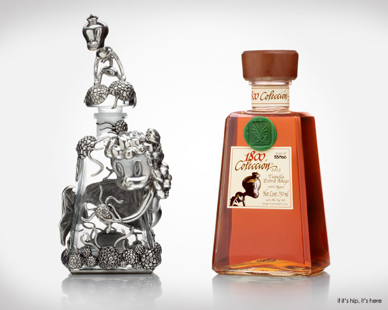 Baseman decanter and Tequila