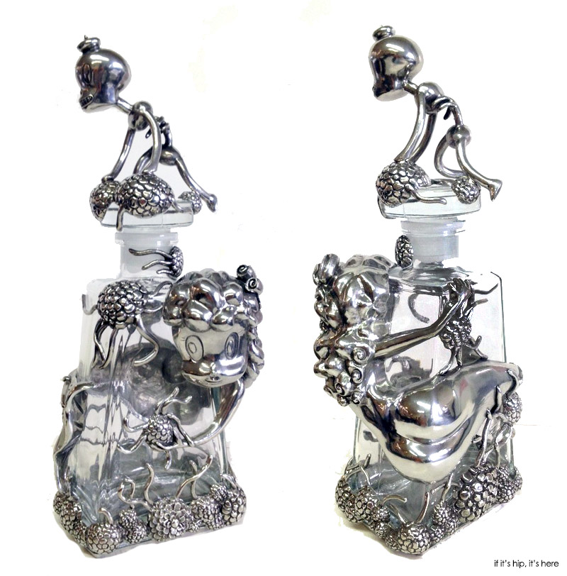 decanter from front and back