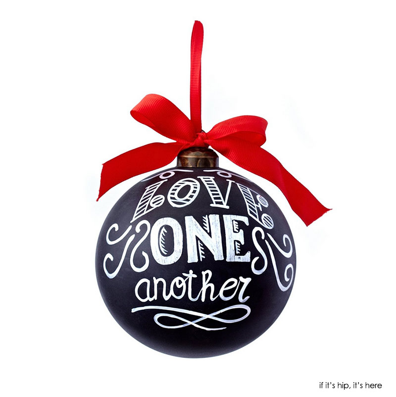 love one another chalkboard ornament