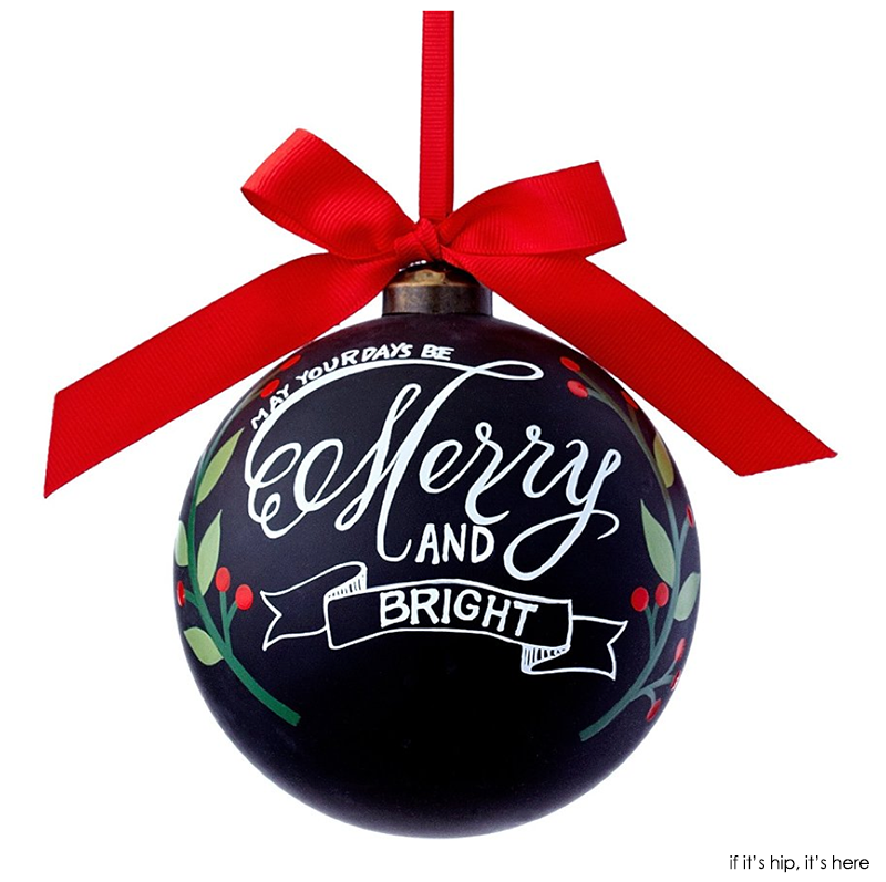 may your days be merry and bright chalkboard ornament