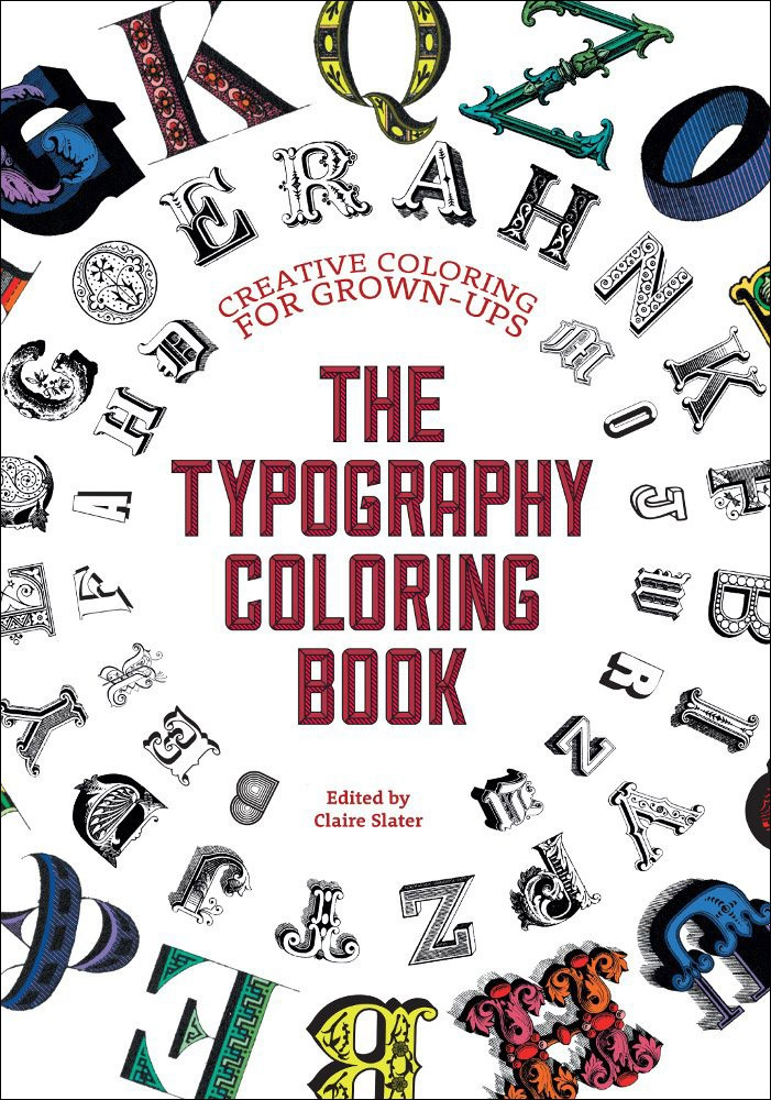 typography coloring book
