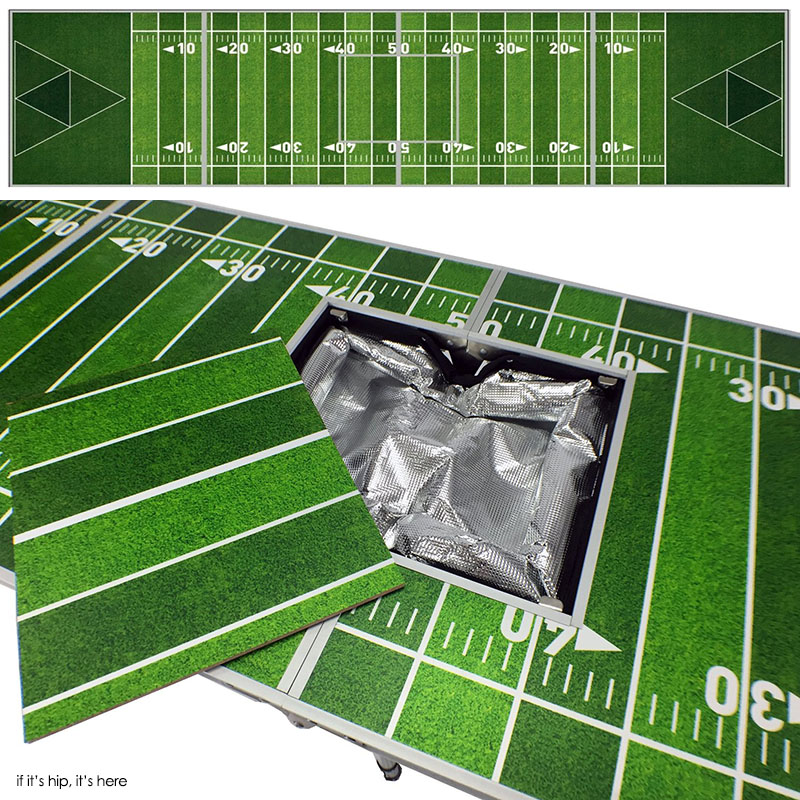Football Field Beer pong table With built-in cooler