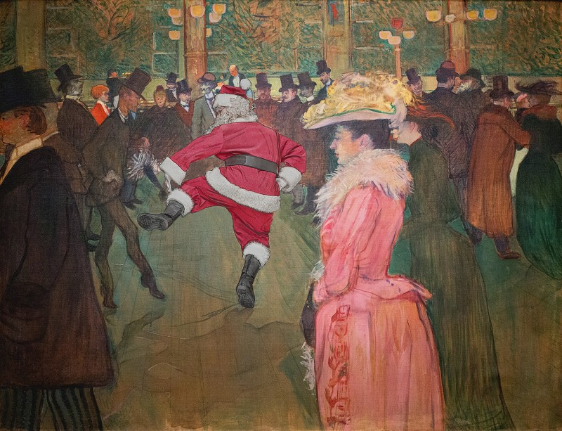 Toulouse Lautrec's At the Moulin Rouge