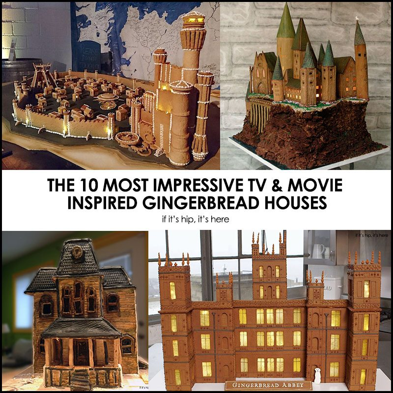 TV & Movie Inspired Gingerbread Houses