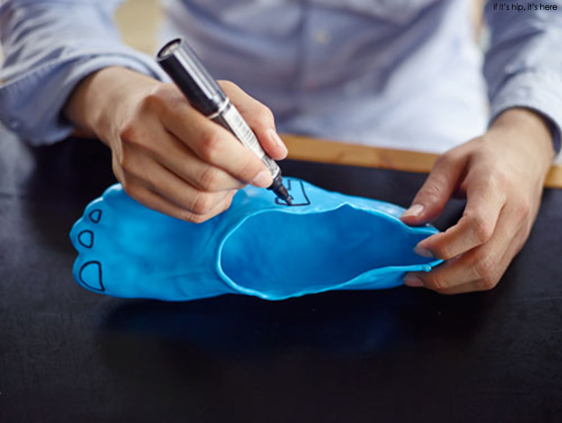 fondue slippers decorate with sharpie