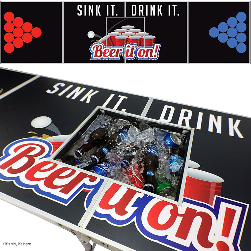 ink it drink it beer pong table with cooler