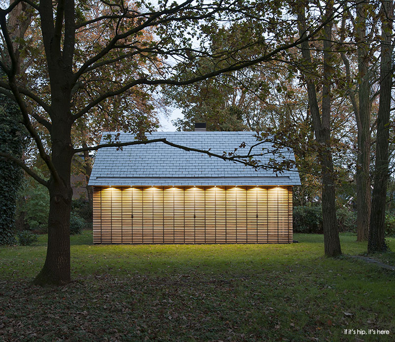 utrecht cabin with shutters closed