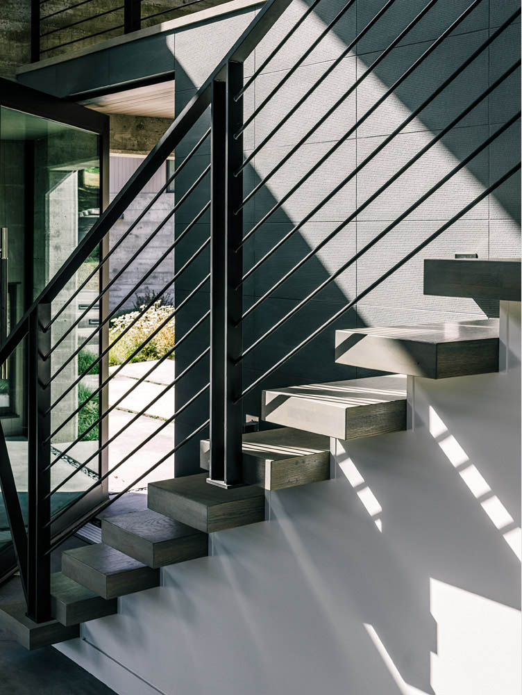 concrete stairs to loft