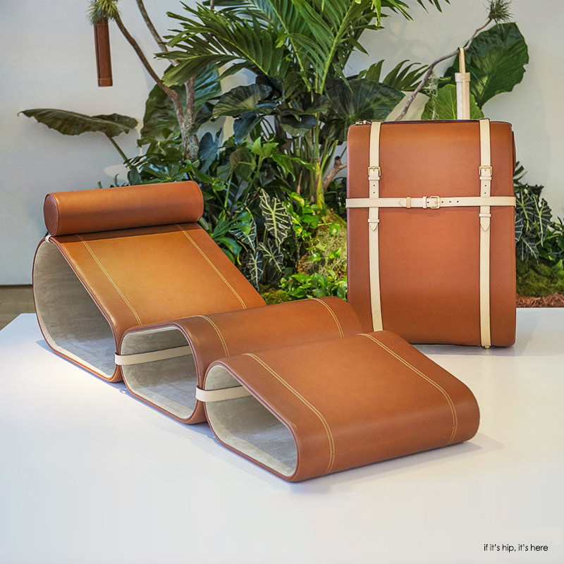 Marcel Wanders folding lounge chair for Louis Vuitton Objets Nomades
