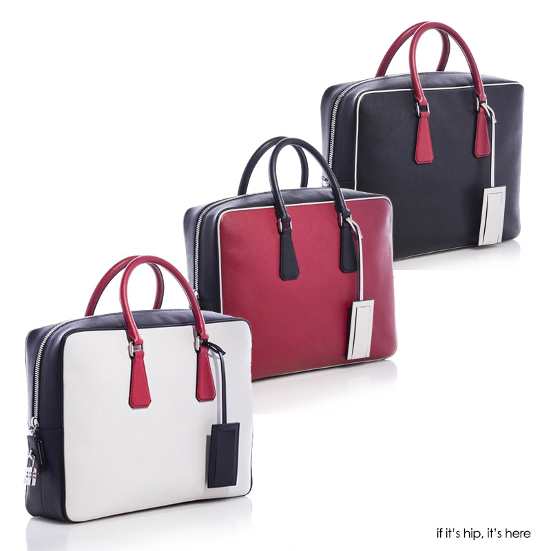 Prada Travel made to order leather bag three colors