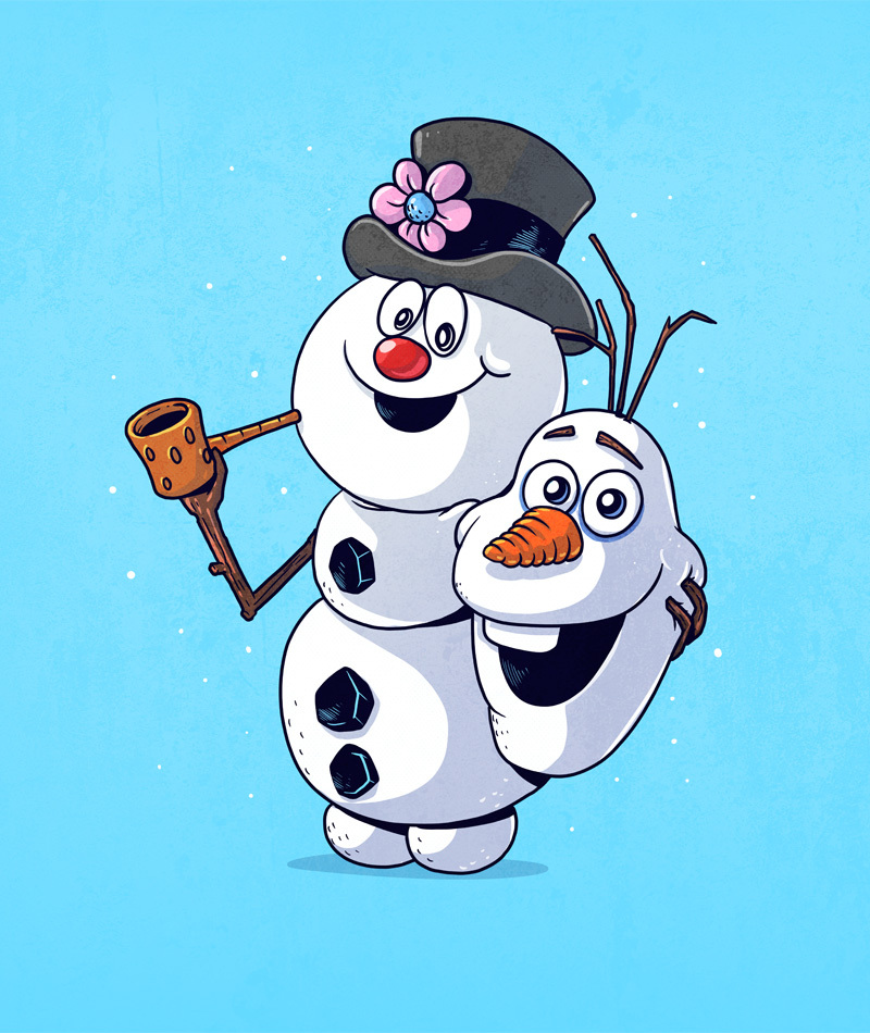 olaf and frosty icons unmasked