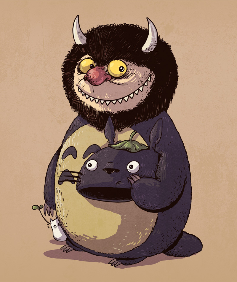 totoro and wild thing icons unmasked