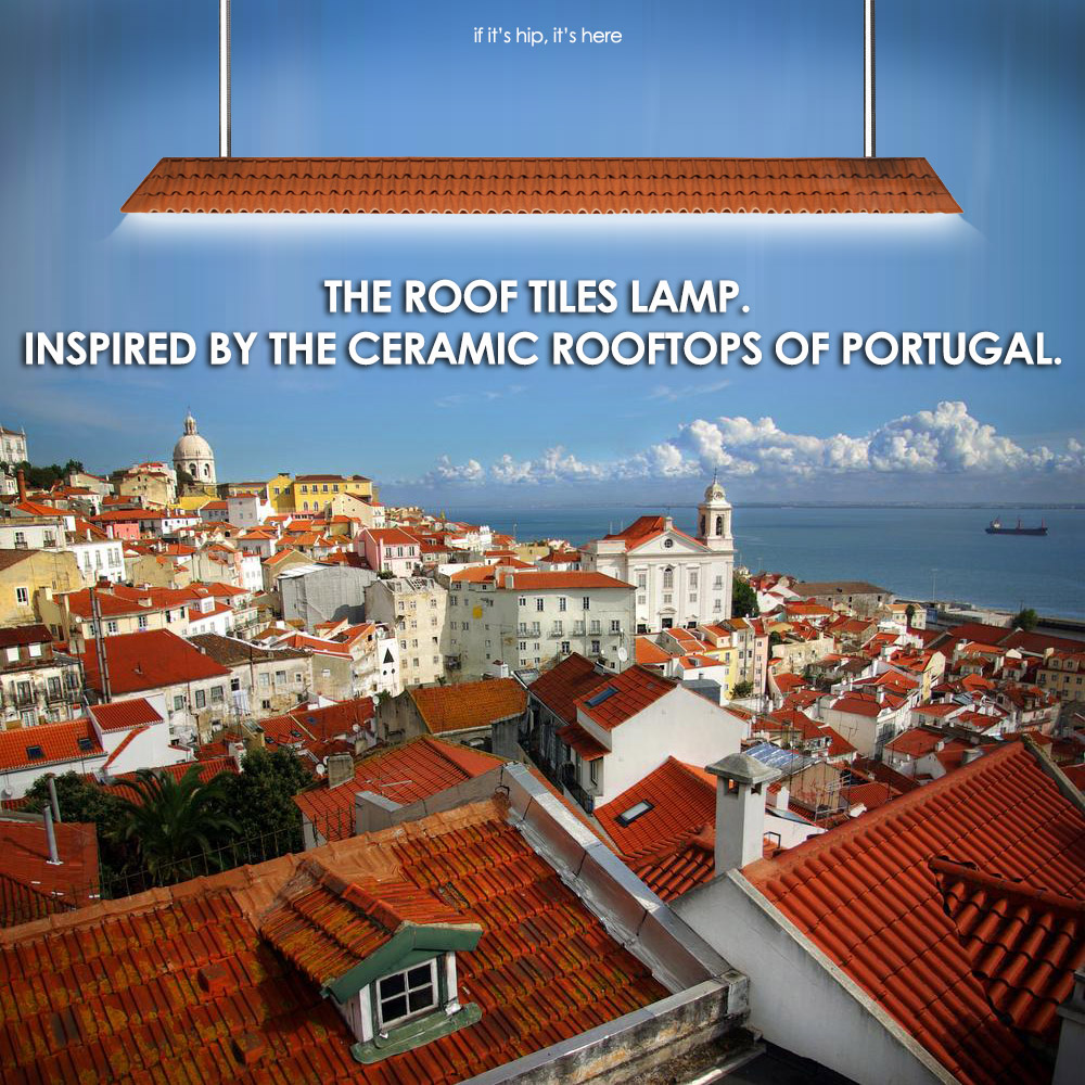 The Roof Tiles Lamp Brings A Little Portugal Into Your