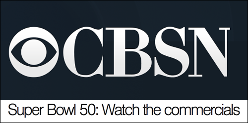 CBS super bowl ads and voting poll