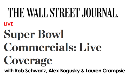 wall street jounral live super bowl coverage