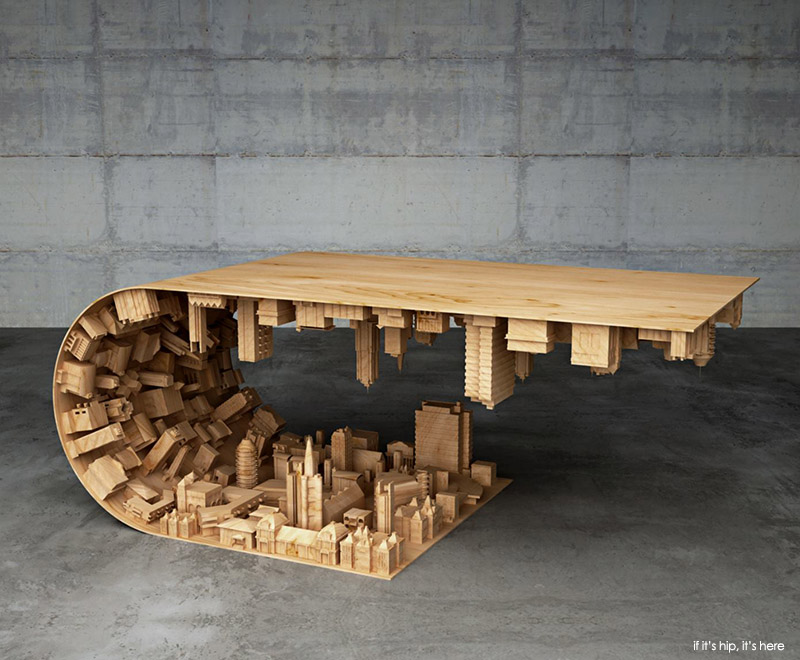 The Wave City Coffee Table Inspired By Inception