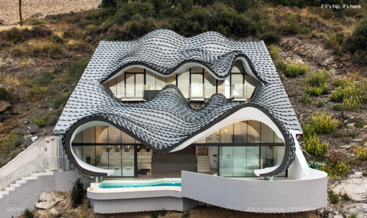 Spain's Cliff House With Zinc Roof by GilBartolomé Architects