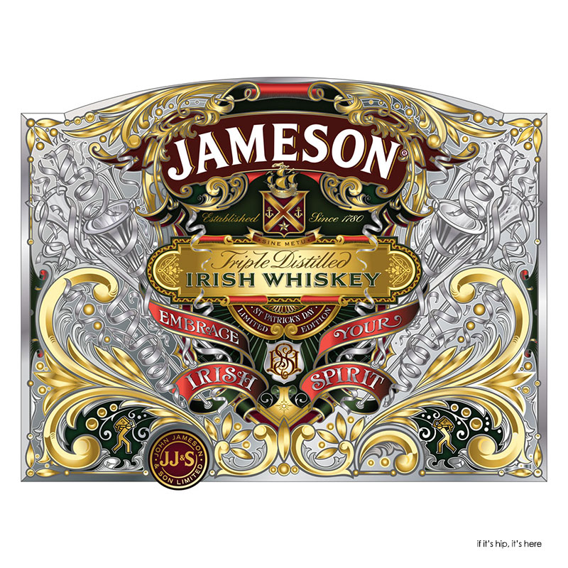 Jameson 2013 bottle design with white outlines