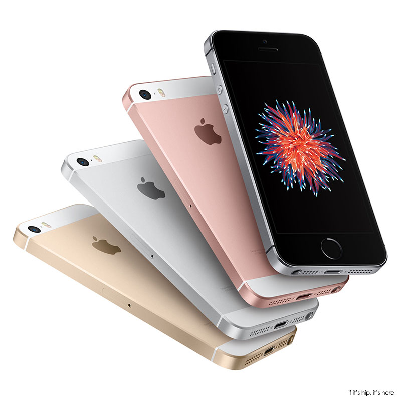 hero iphone SE four fanned