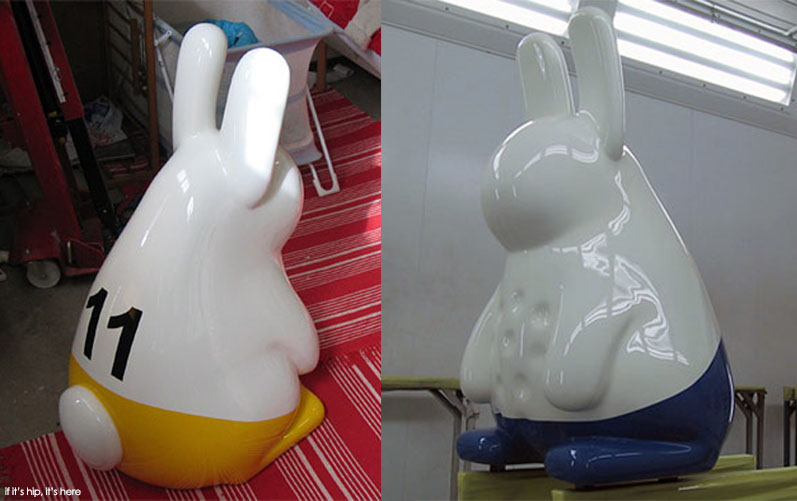 yellow and blue rabbits tom claassen