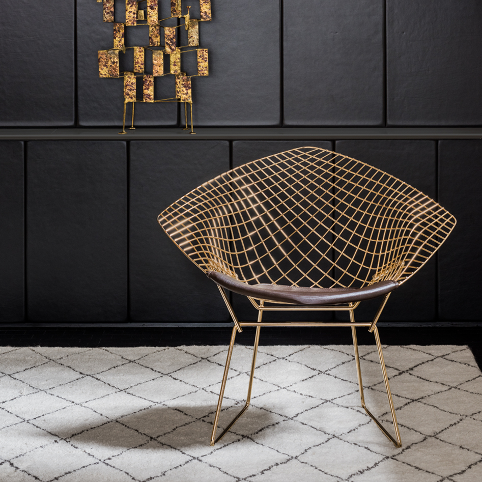 knoll 18k gold plated vintage classics bertoia and platner. Black Bedroom Furniture Sets. Home Design Ideas