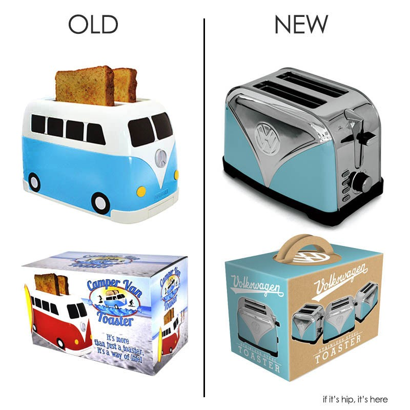 Volkwagon Campervan Toaster old and new design for 2016