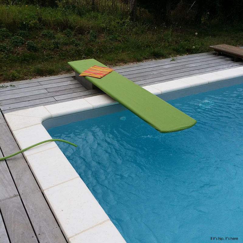 Custom wood diving boards handmade by mikel tube for Uses for old swimming pools