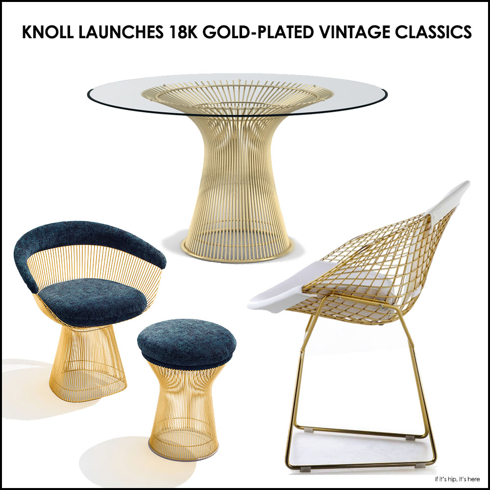 Knoll 18k gold plated vintage classics