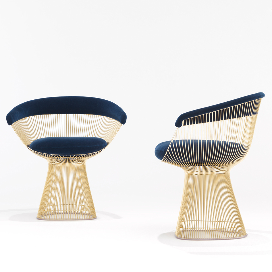 Knoll 18k Gold Plated Vintage Classics Bertoia And Platner