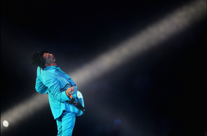 The halftime show at Super Bowl XLI in Miami in 2007