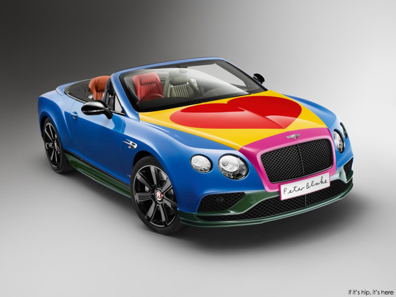 Bentley By Blake Custom Pop Art Bentley By Sir Peter Blake