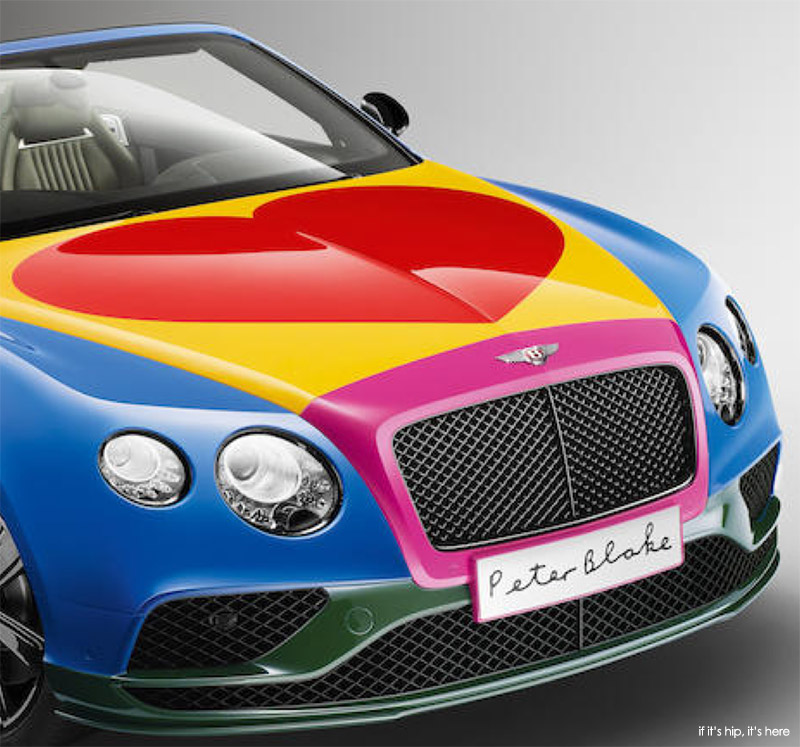 bonnet and grill of the Bentley by Blake